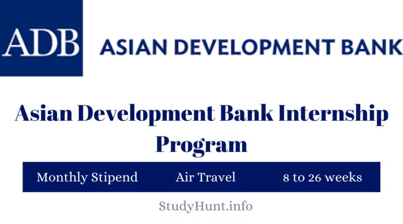 ADB internship program 2021