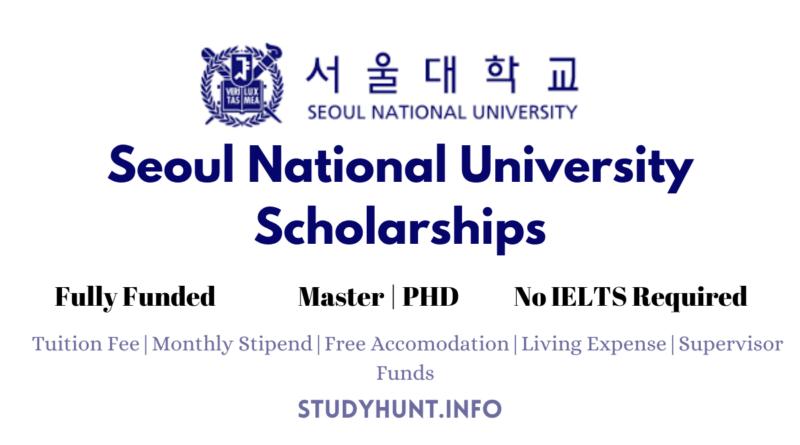 SNU Scholarships 2022