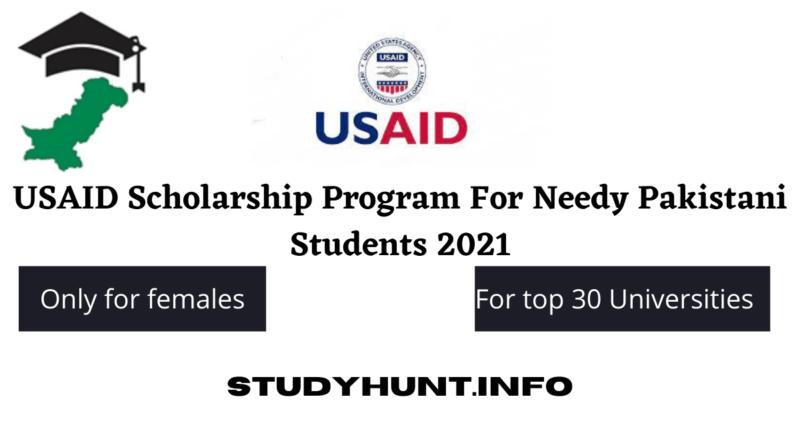 USAID Scholarship Program For Needy Pakistani Students 2021