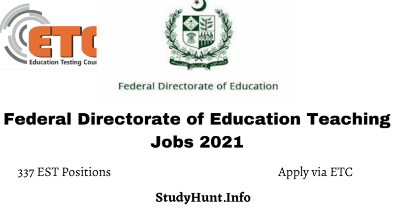 Federal Directorate of Education Teaching Jobs 2021