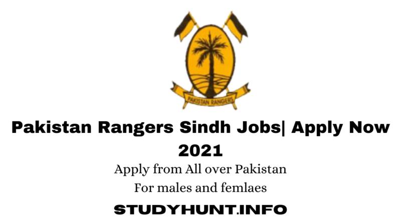 Pakistan Rangers Sindh Jobs Apply Now 2021