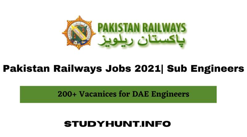 Pakistan Railways Jobs 2021 Sub Engineers