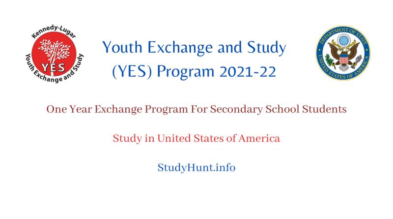 yes program Youth Exchange program 2022-2023