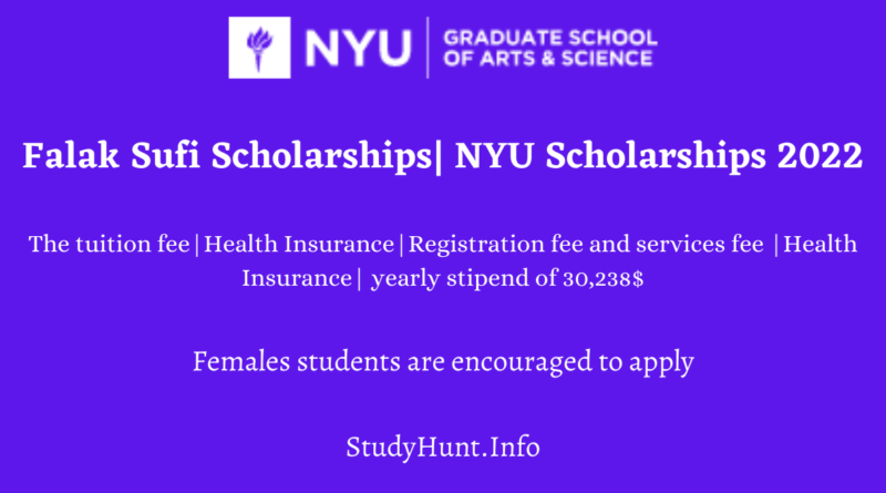 Falak Sufi Scholarships NYU Scholarships 2022