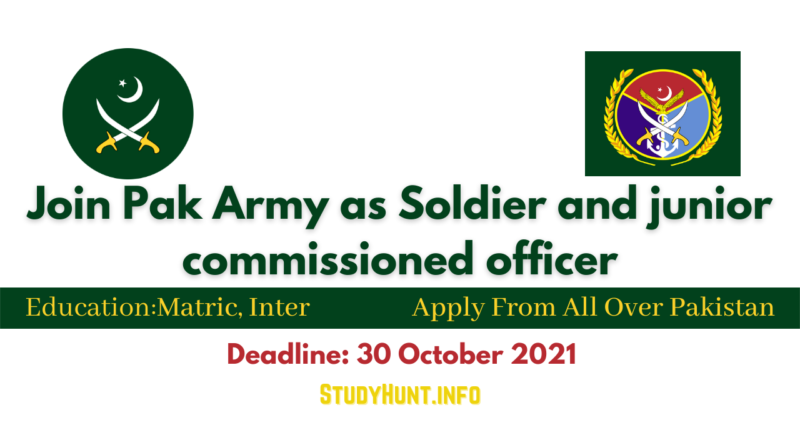 Pak Army as Soldier and JCO 2021