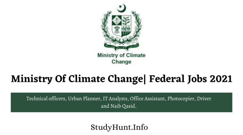 Ministry Of Climate Change Federal Jobs 2021