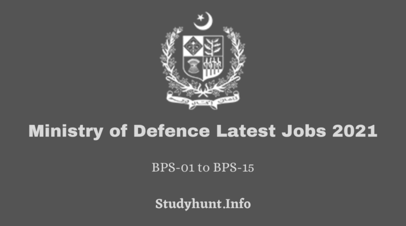 Ministry of Defence Latest Jobs 2021