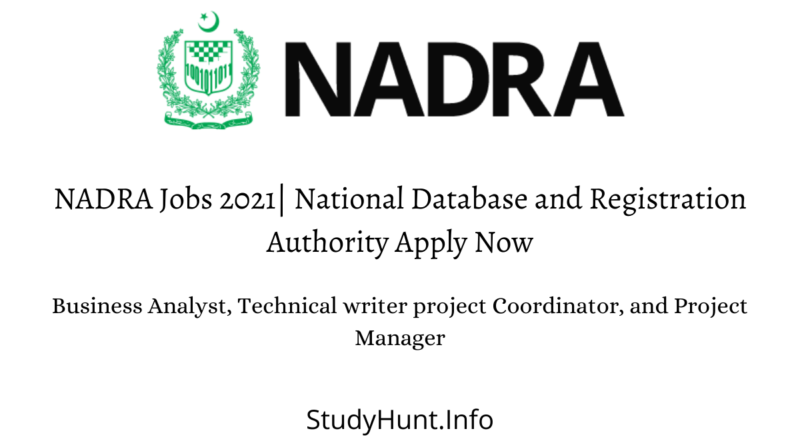 NADRA Jobs 2021 National Database and Registration Authority Apply Now