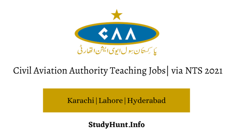 Civil Aviation Authority Teaching Jobs via NTS 2021