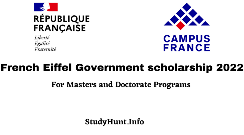 French Eiffel Government scholarship 2022