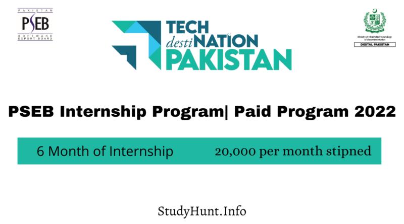 PSEB Internship Program Paid Program 2022