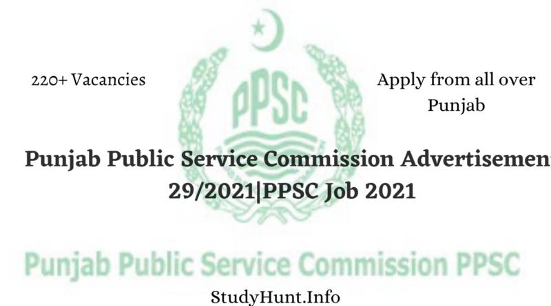 Punjab Public Service Commission Advertisement 292021PPSC Job 2021